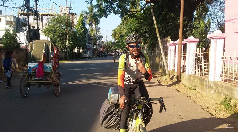 Hunger to break world record takes cyclist from Delhi across India