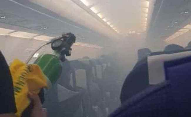 Watch: Smoke Inside IndiGo Plane, Passengers Evacuated By Emergency Slide