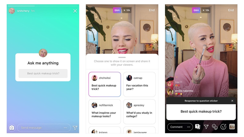 Instagram Adds New Stickers to Let Users Ask Questions in Live Videos, Share Music, and More