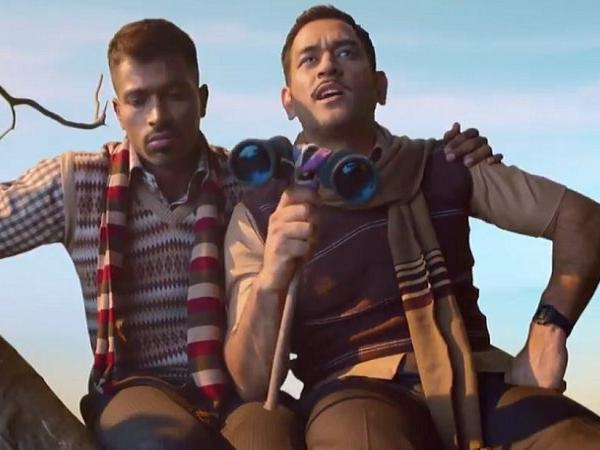 Twitter goes berserk as MS Dhoni and Hardik Pandya impress with their acting skills in new advertisement