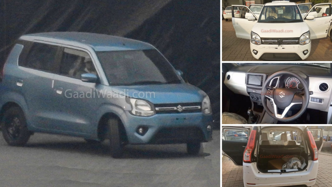 Exclusive Pics: 2019 Maruti Wagon-R Gets Swift's 1.2L Engine, New Pics Leaked