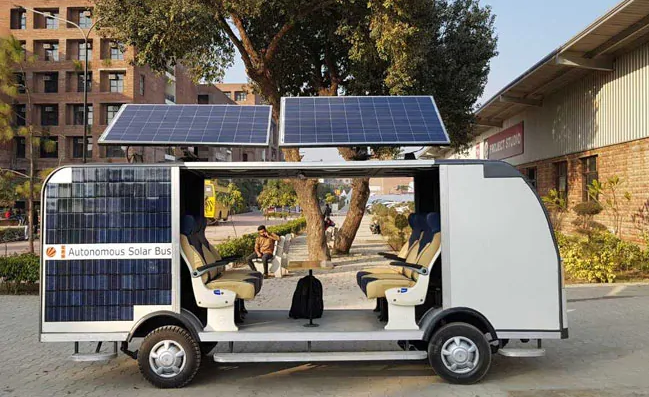 Students Design Driverless Bus That Runs on Solar Power, Cost Rs. 15 Lakh