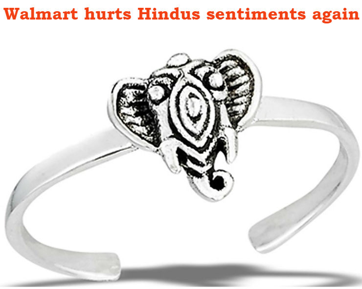 "Upset Hindus urge Walmart to withdraw Lord ""Ganesh Toe Ring"""