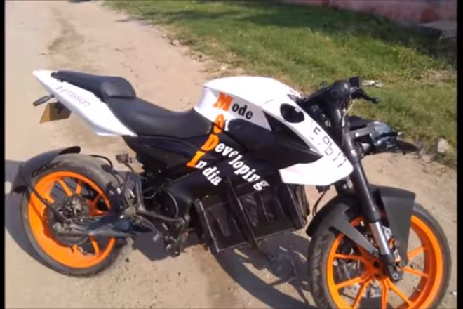 Meet Waqar Ali's electric motorcycle 'MODI': 150 kmph and dedicated to PM Modi