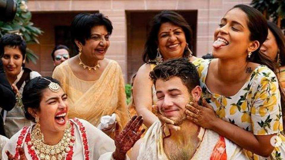 Unseen pictures from Priyanka Chopra's haldi: Lilly Singh has no mercy for Nick Jonas. See them here