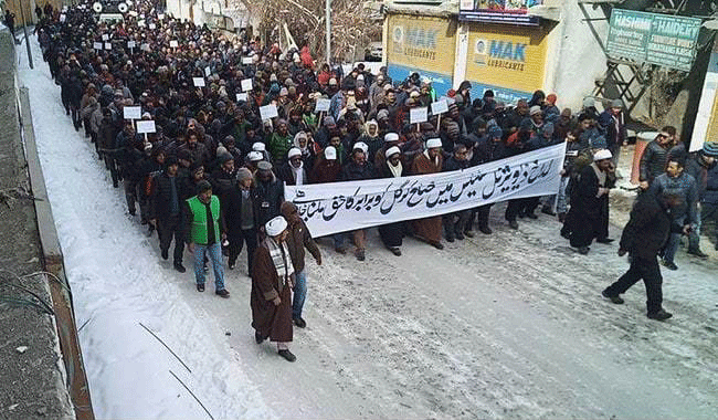 Kargil Residents Brave Bone-Chilling Cold To Protest Centre