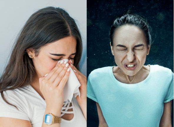 You are not sneezing correctly! Here's how to do it the right way