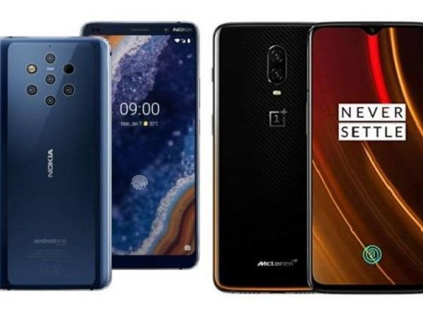 Nokia 9 PureView vs OnePlus 6T McLaren edition: Price, display, camera, RAM and more