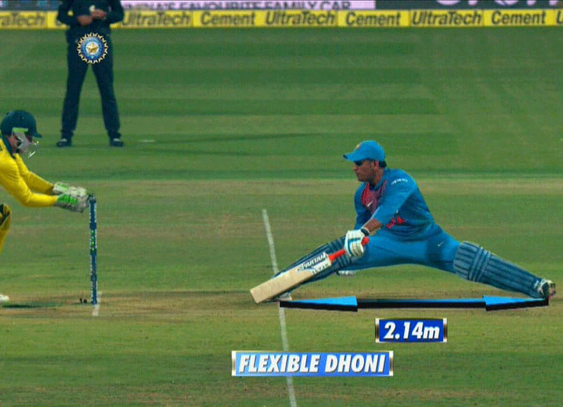 "Watch: ""Flexible Dhoni"", BCCI Applauds MS Dhoni"
