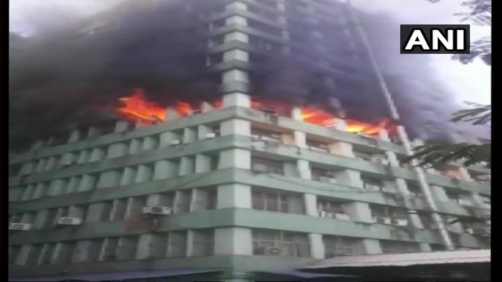 Fire on 5th floor of CGO complex building, 24 fire engines rushed in