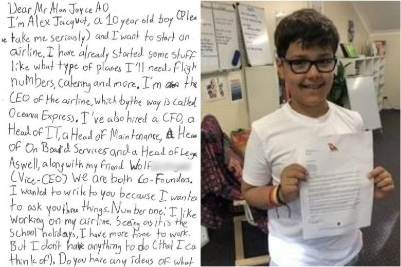 10-Year-Old Writes To Airline CEO For Advice. His Heartwarming Reply...