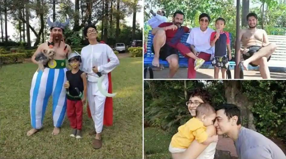 Happy birthday Aamir Khan: Check out his 15 cutest family pics with wife Kiran Rao, son Azad