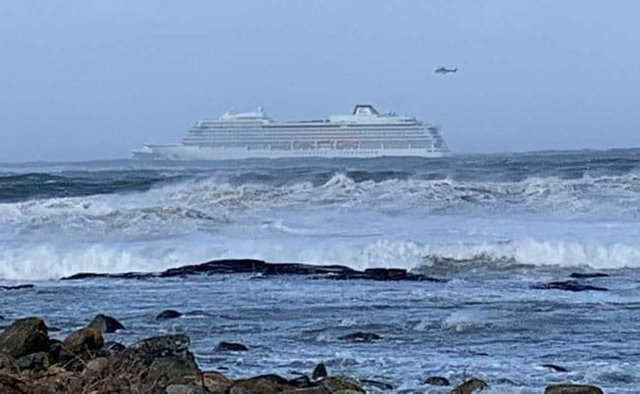 1,300 People Airlifted After Cruise Ship In Norway Suffers Engine Failure