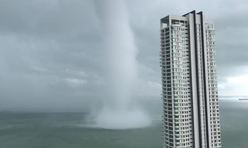 Huge Waterspout Makes Landfall In Malaysia. Videos Are Viral