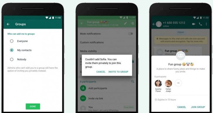 You can now control who can add you to a WhatsApp group