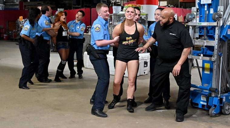 WWE Raw: Becky Lynch, Charlotte Flair and Ronda Rousey arrested before WrestleMania
