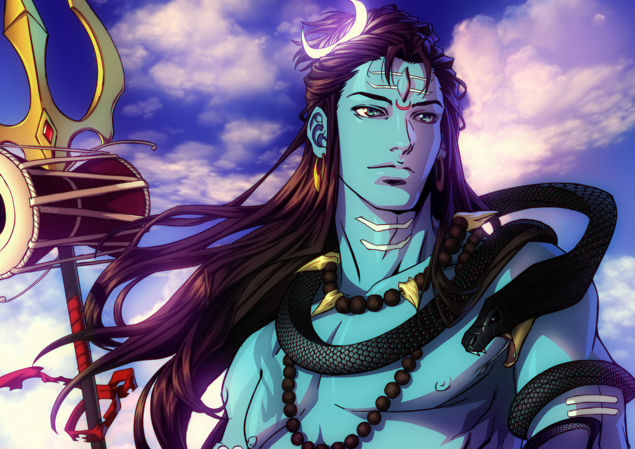 Why Lord Shiva is blue?