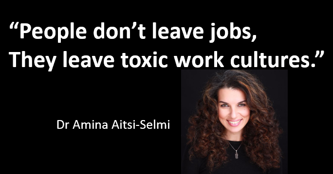 Toxic environments make people sick, make projects fail, and make best employees quit.