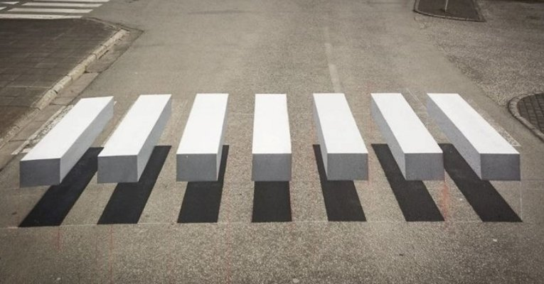 Elementary Students Create 3D Crosswalk That Forces Drivers To Drive Slower
