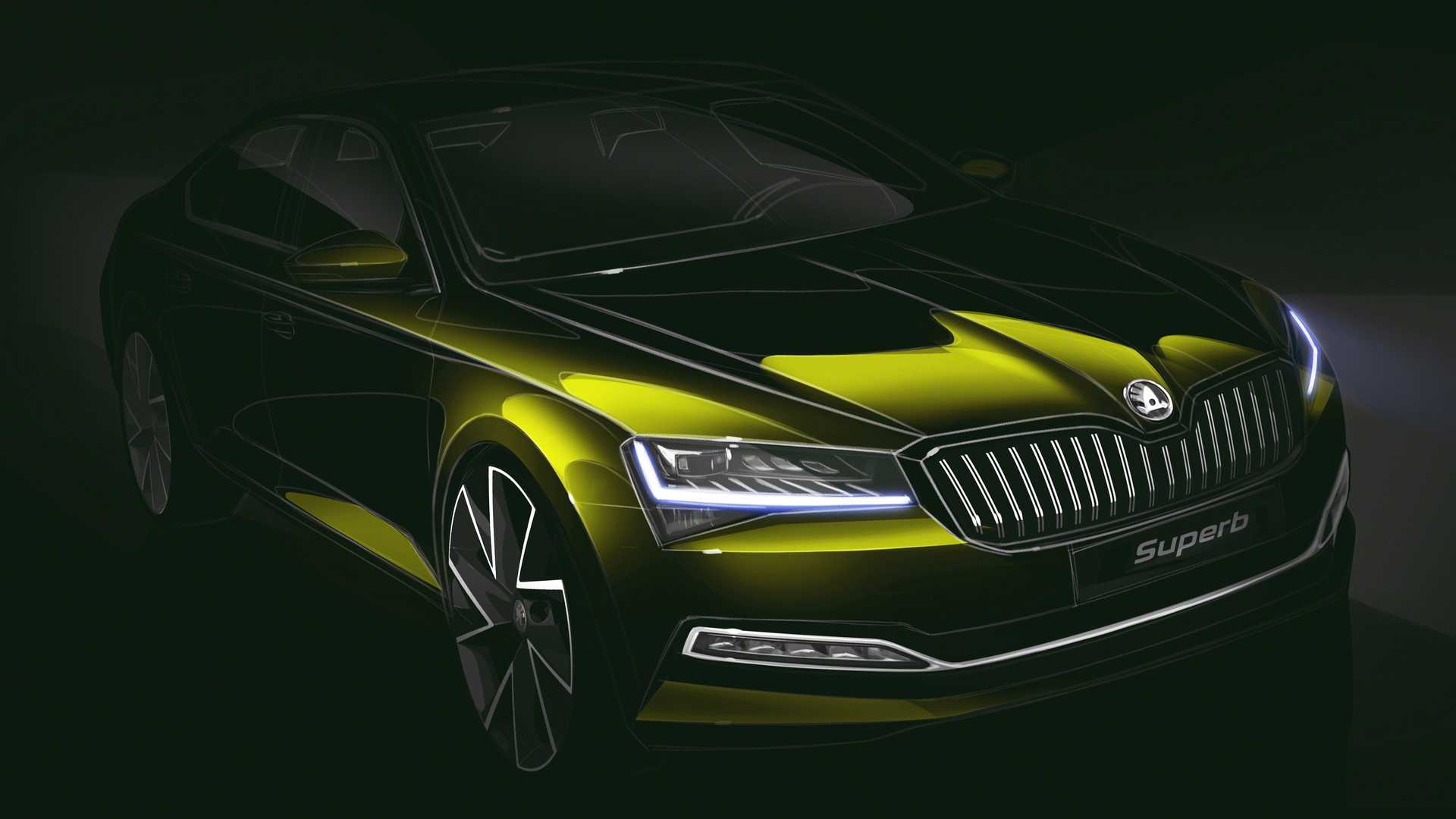 2020 Skoda Superb Teaser Previews The Updated Czech Flagship