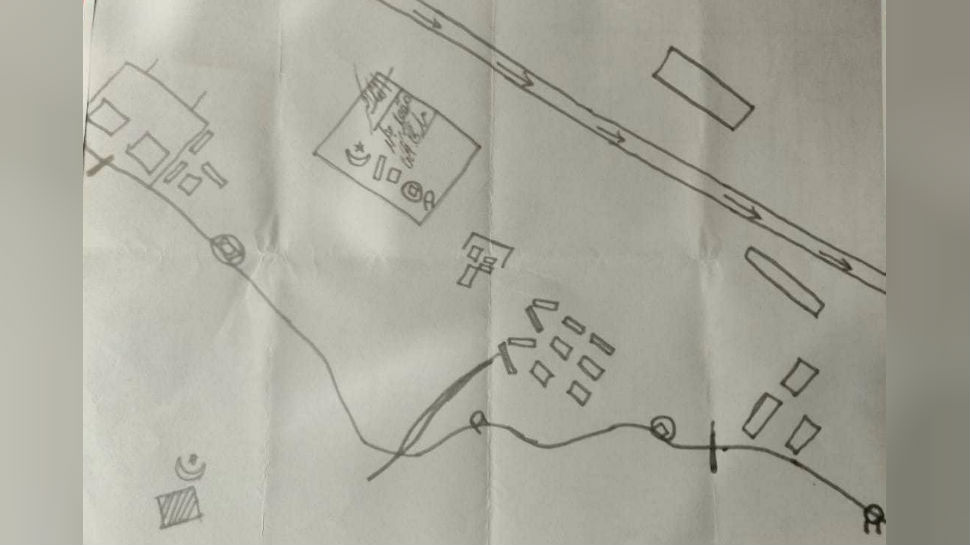 Map recovered from dead terrorist reveals a major plot to target IAF air bases in Srinagar, Awantipora