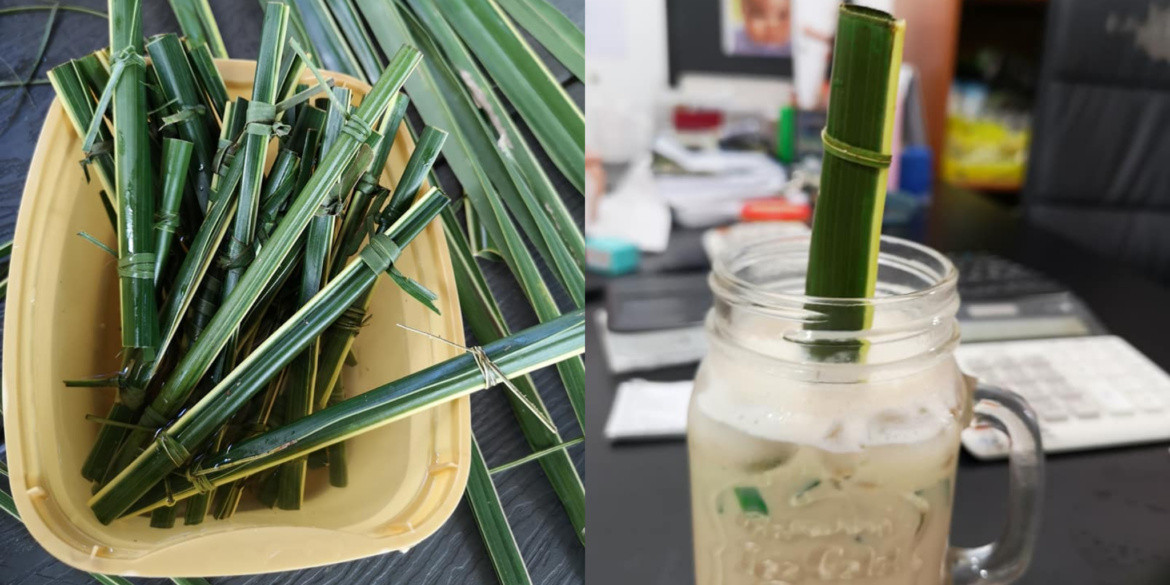 A Philippines Cafe Makes Straws From Coconut Leaves As A Perfect Alternative To Plastic Straws