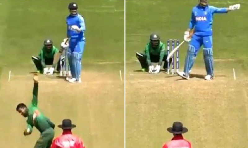 ICC World Cup 2019: MS Dhoni stops bowler, sets field for Bangladesh while batting, twitter erupts - Watch