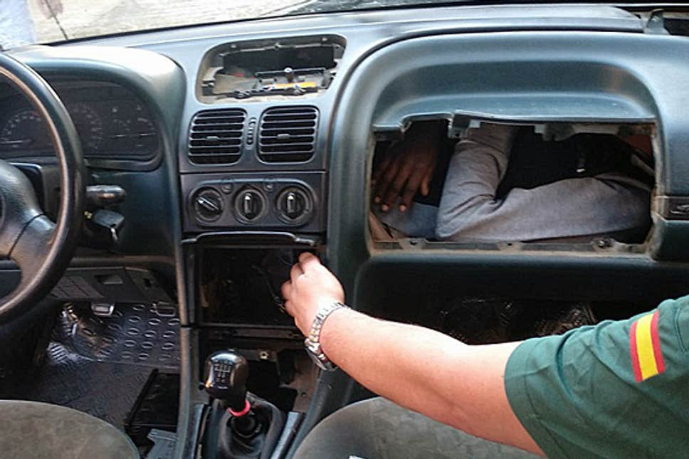 Migrant Found Hiding In Vehicle