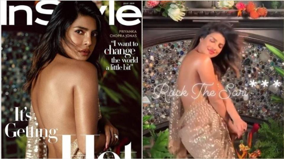 After Priyanka Chopra gets trolled for wearing sari without a blouse, designer Tarun Tahiliani speaks in her defence, calls it 'a global statement'