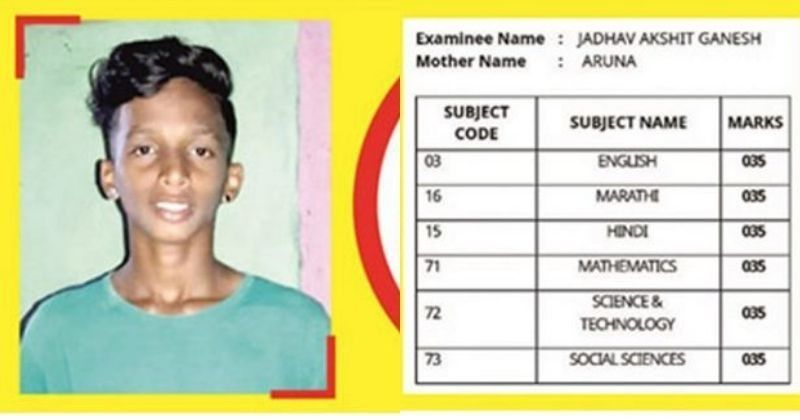 Mumbai Student Creates History, Scores 35/100 In All Subjects & Clears Boards!