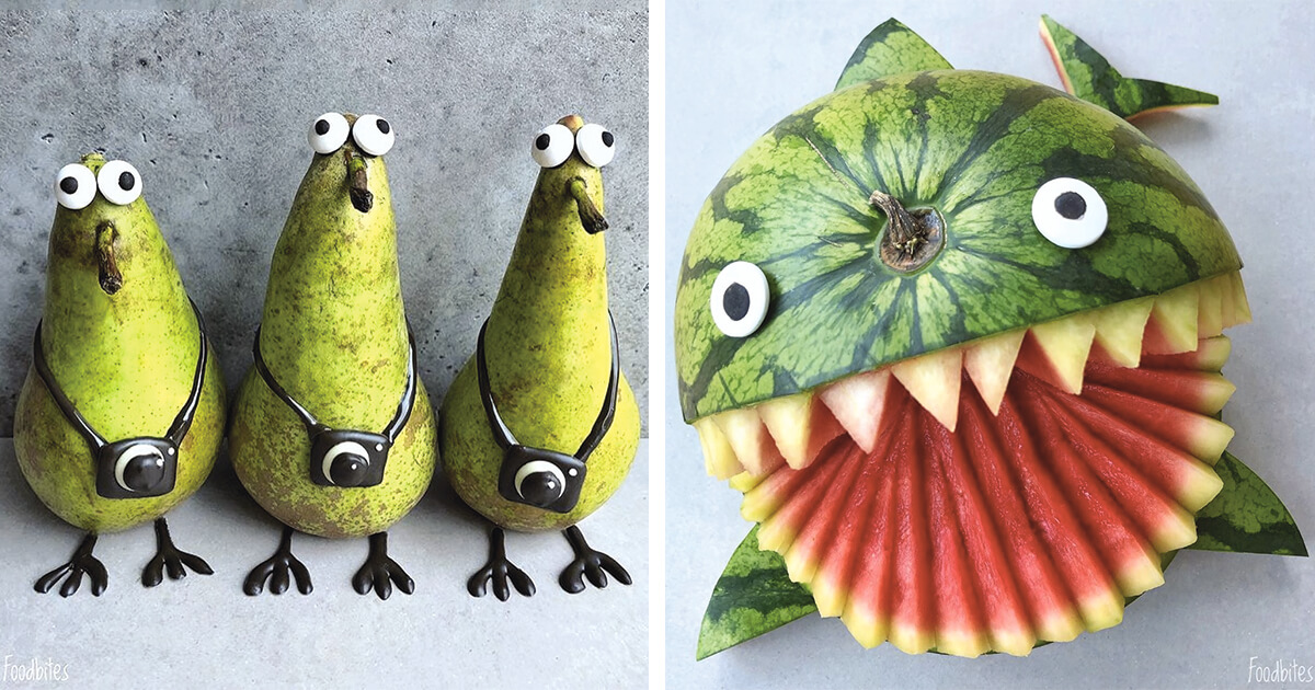 Food Artist Creates Beautifully Realistic Characters That Are Just Too Cute To Eat