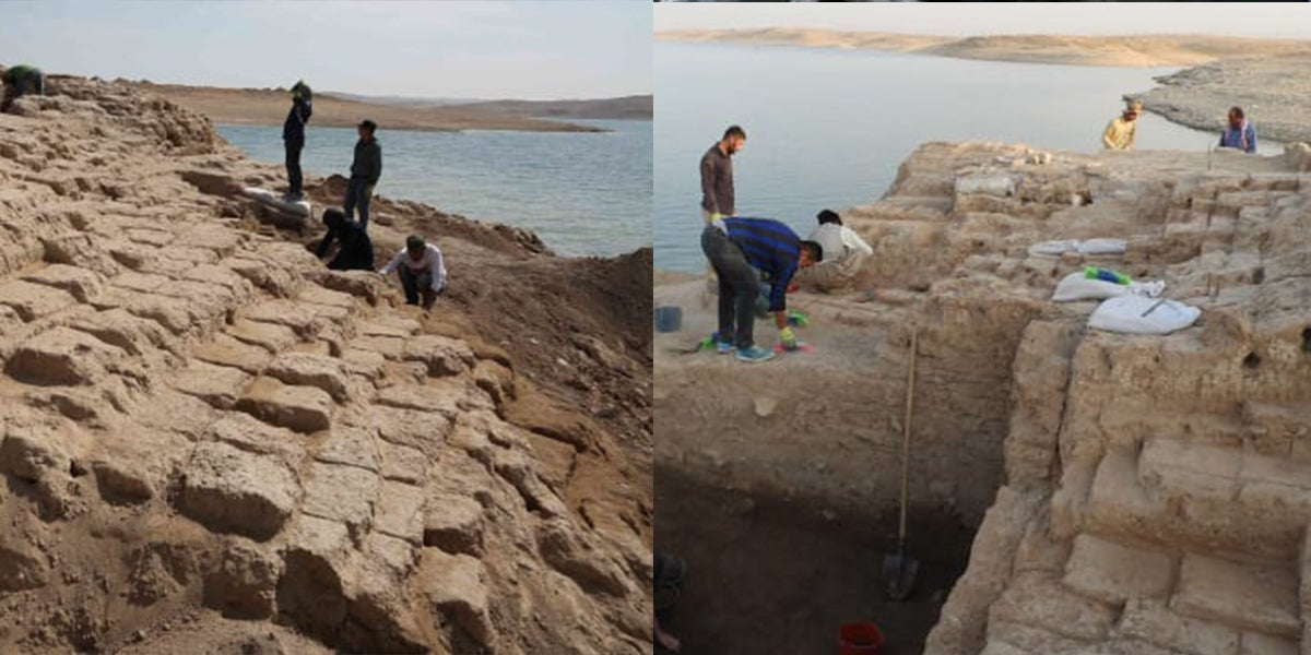 3400-Year-Old Ancient Palace Revealed After Reservoir Dries Up In Iraq