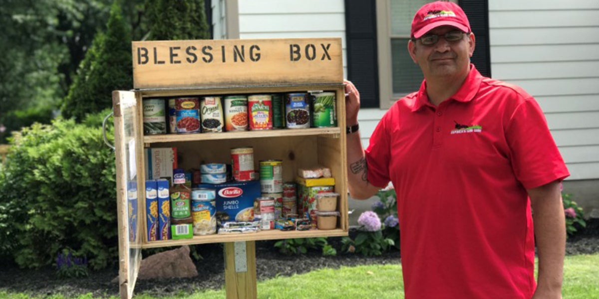Man Builds Pantry Outside His Home To Feed The Hungry