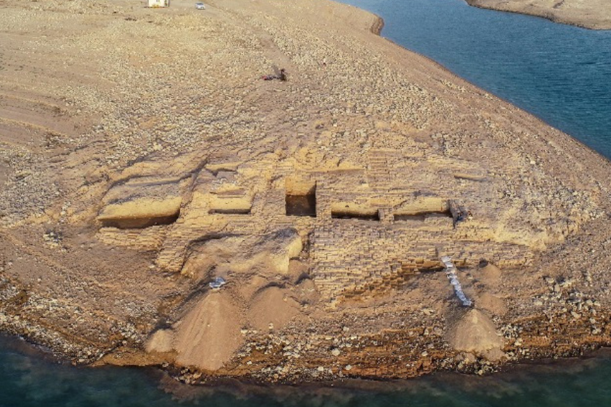 Real-Life Atlantis? 3,400-Year-Old Palace Emerges After Water Levels Drop in Drought-Hit Kurdistan