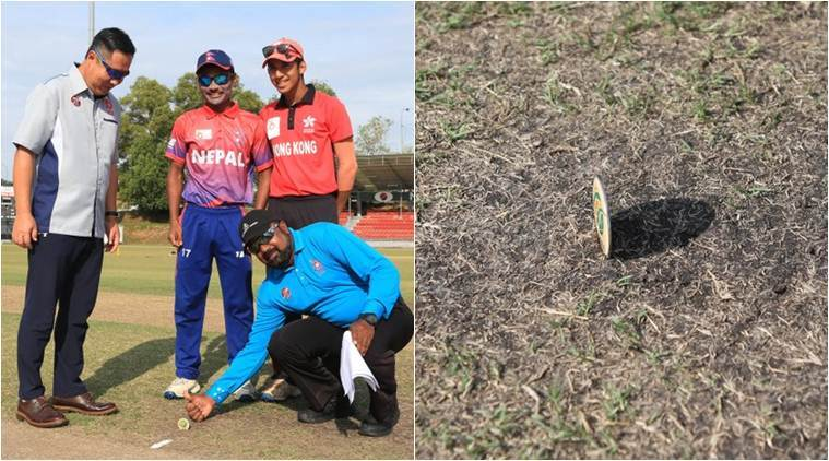 Viral Video: Sholay reminder! Tossing coin lands straight before Nepal vs Hong Kong U19 match