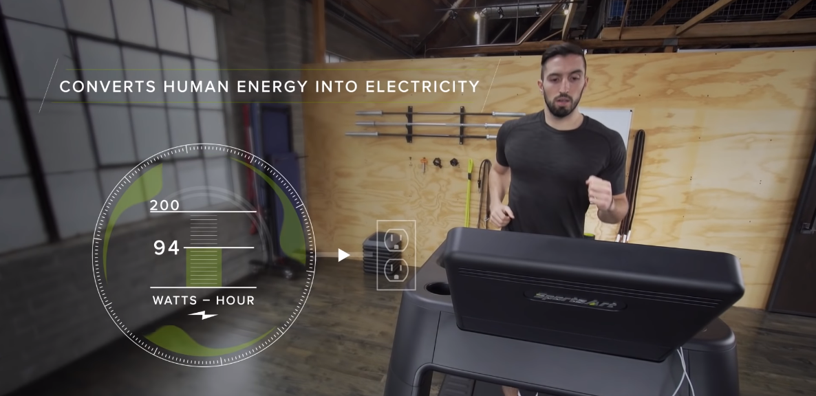 Cut Your Waistline And Electricity Bill With This Energy Generating Treadmill