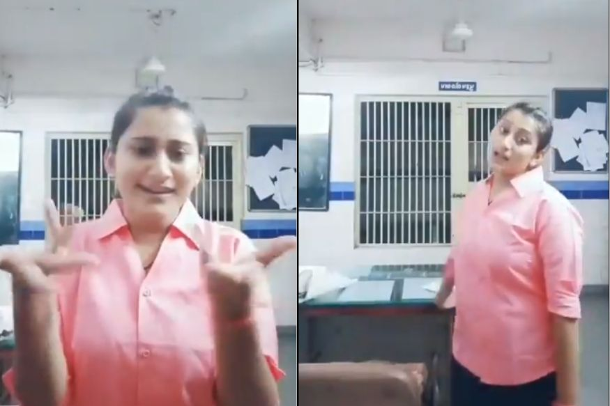 Watch: Policewoman suspended after TikTok video of her dancing inside a police station goes viral