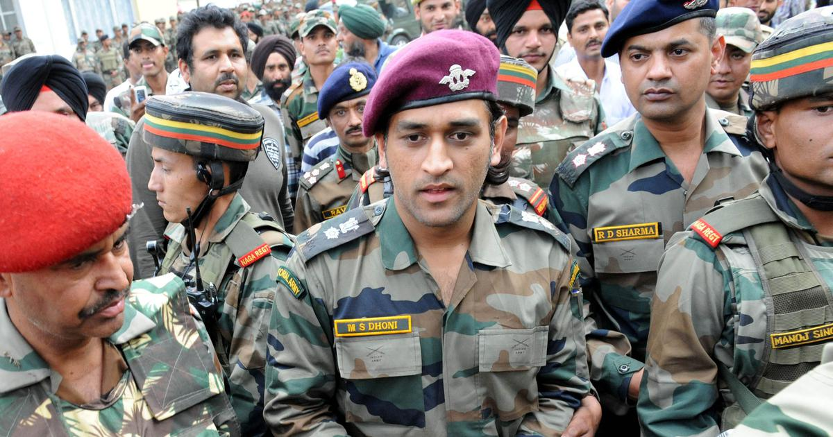 MS Dhoni to start guard duty in Kashmir as honorary lieutenant colonel