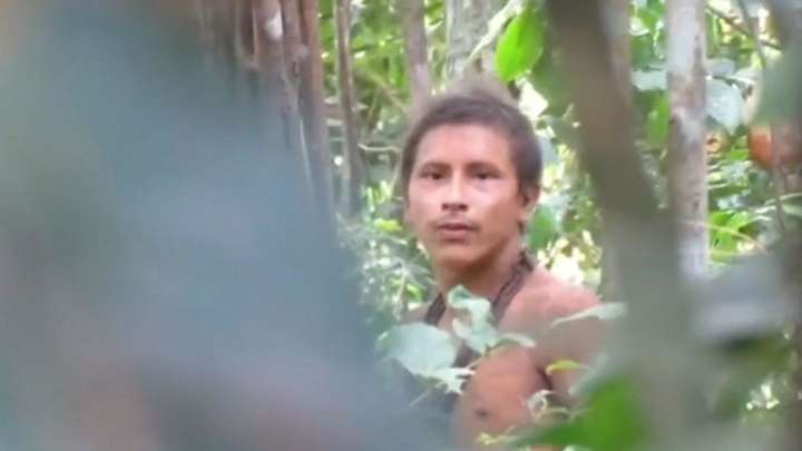 Footage Of Uncontacted Amazon Tribe Shows The Threat They Face From Illegal Loggers
