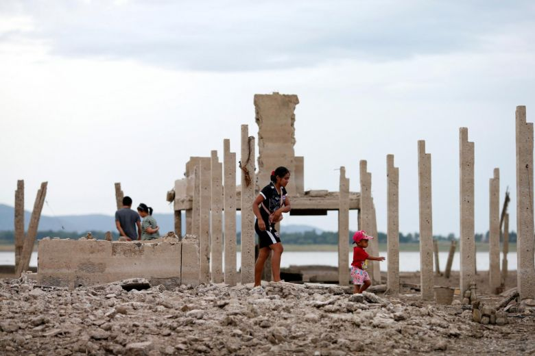 Drought Reveals Lost Temple In Thailand Submerged By Dam 20 Years Ago