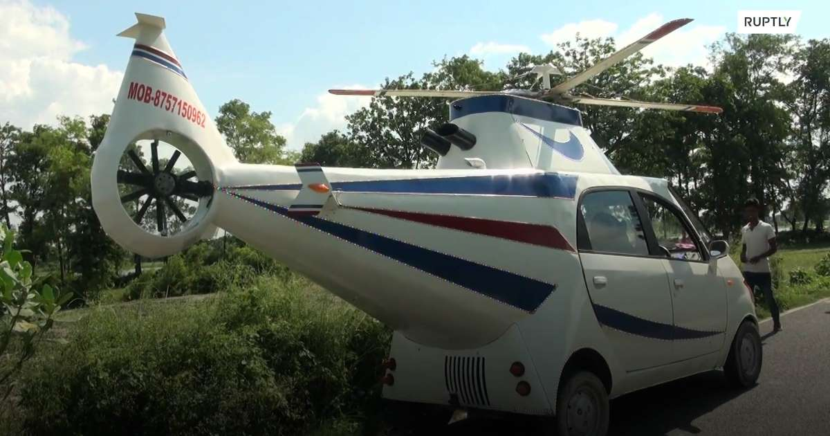 Bihar Man Turns Tata Nano Into a Helicopter After Failing to Become a Pilot: Watch Video