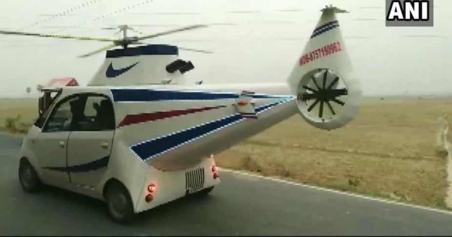 24-year-old man from Bihar turns Tata Nano into a 'helicopter'