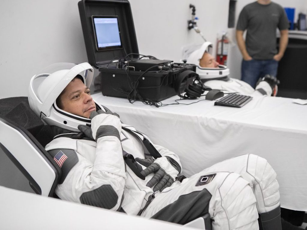 NASA ASTRONAUTS TRY OUT NEXT-GEN SPACESUITS BY SPACEX FOR THE 2020 MISSION