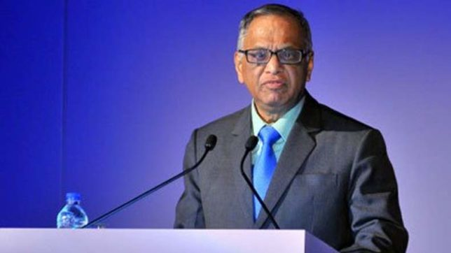 Stand up and say it's not the country our founding fathers envisaged, Infosys' Murthy tells youth