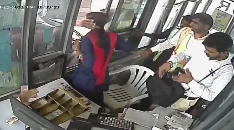 Watch: Woman toll collector slapped at Gurgaon's Kherki Daula, she hits back