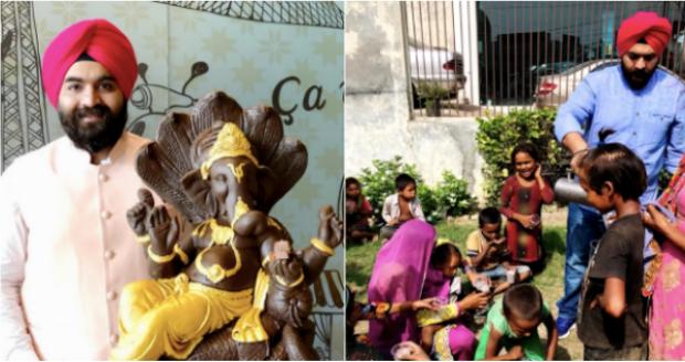 Ludhiana Bakery Crafts 100 Kg Chocolate Ganesha Idol, Milkshake To Be Distributed To Poor After Visarjan