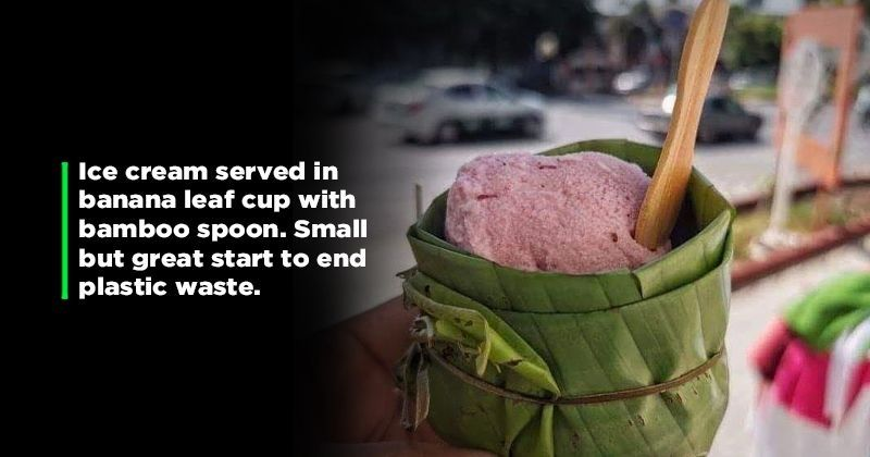 Perfect Eco-Friendly Solution: This Image Proves We Do Not Need Plastic To Serve And Eat Food