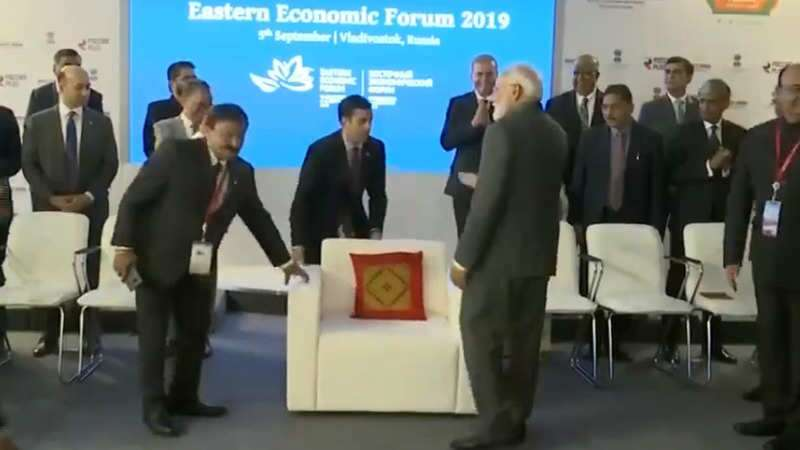 PM Modi refuses sofa, opts to sit on chair along with others during photo session in Russia