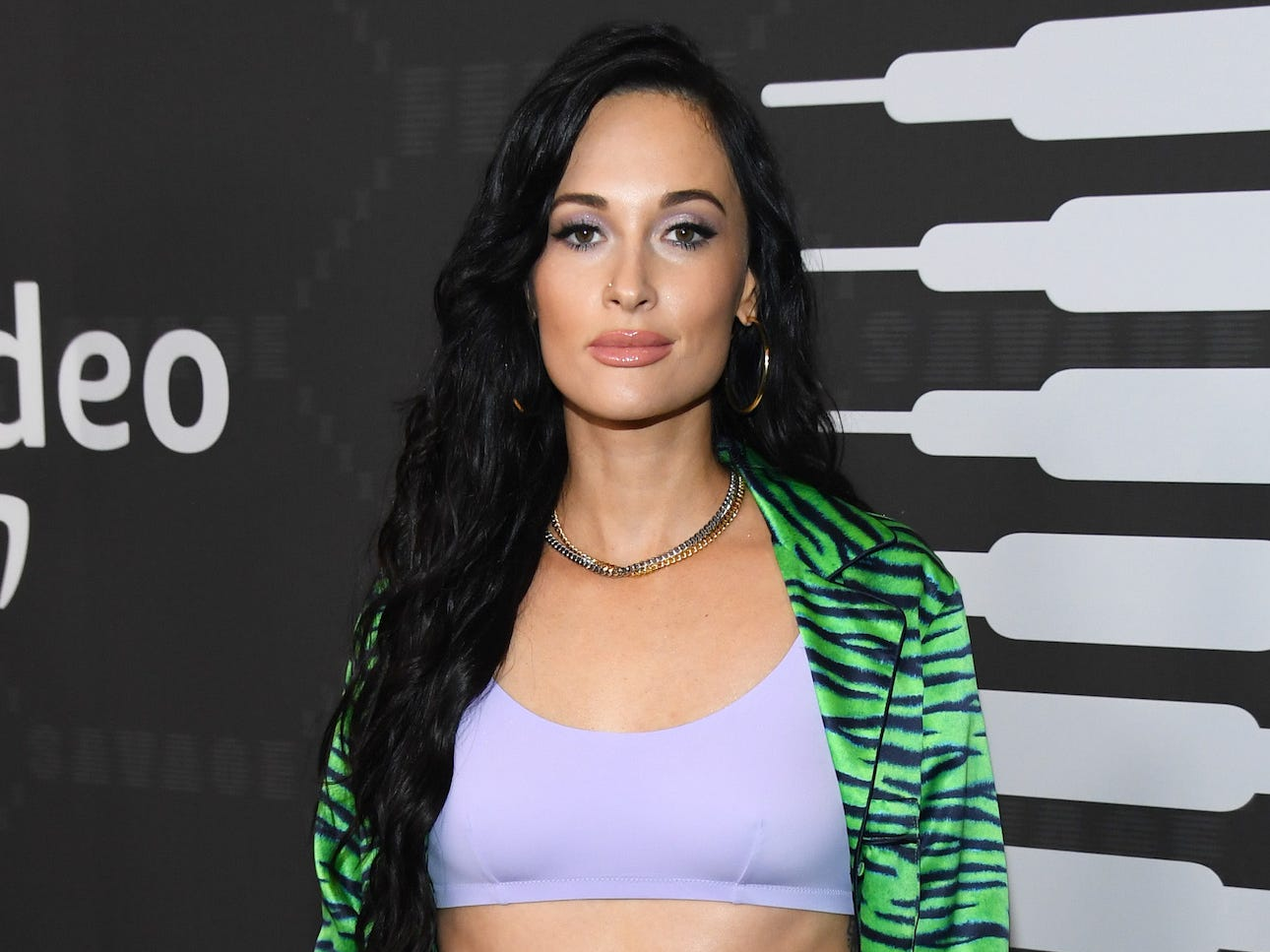 Kacey Musgraves wore a purple bra under pajamas for one of her most daring looks to date