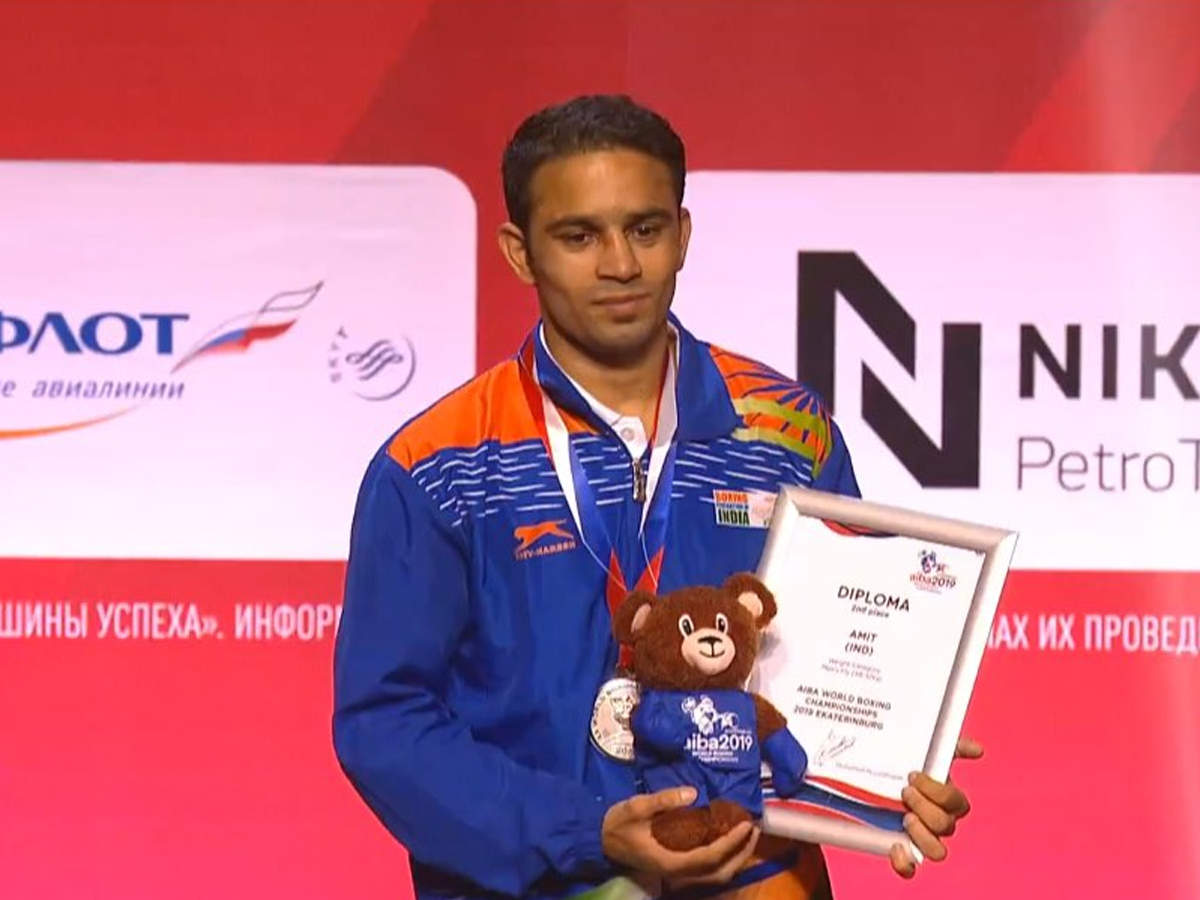 Amit Panghal gets historic silver at World Boxing Championships